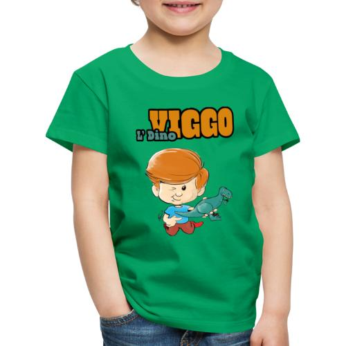 LDinoViggo Logo total - Børne premium T-shirt