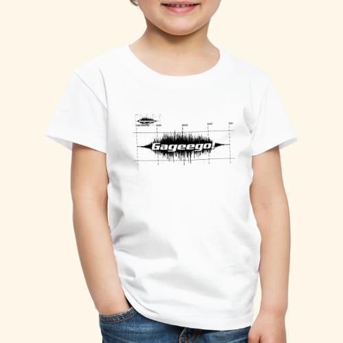 Gageego logga vit text - Premium-T-shirt barn