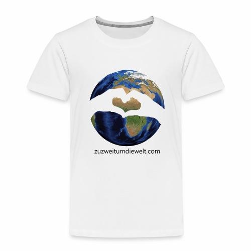 Zu zweit um die Welt: Logo mit Schriftzug - Kinder Premium T-Shirt