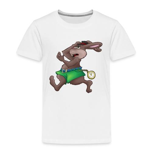 Zu Spät! - Hase mit Uhr - Kinder Premium T-Shirt
