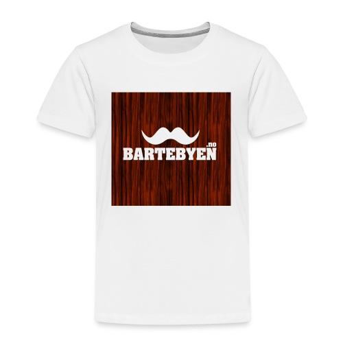 logo bartebyen buttons - Premium T-skjorte for barn