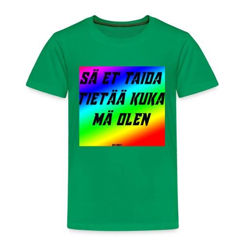 kuka olen - Lasten premium t-paita