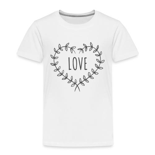 Heart Love - Koszulka dziecięca Premium