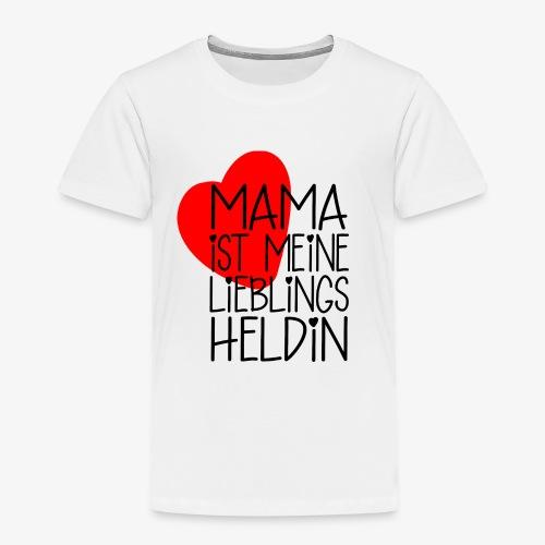 Mama Lieblings Heldin Geschenkidee - Kinder Premium T-Shirt