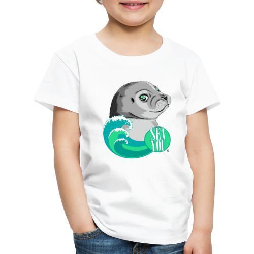 Sea You - Blue Waves - Kinder Premium T-Shirt