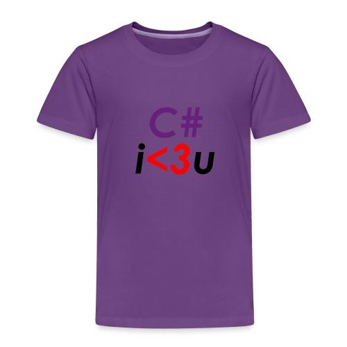 C# is love - Maglietta Premium per bambini