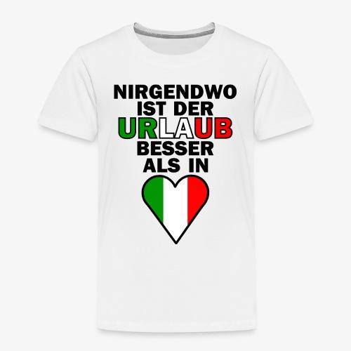 Italien Urlaub Spruch Design   Italien Reise - Kinder Premium T-Shirt