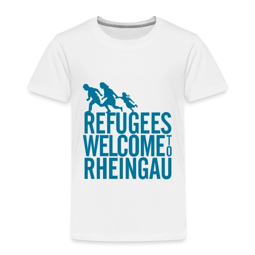 Refugees Welcome to Rheingau Handyhülle 4/4s Rosa - Kinder Premium T-Shirt