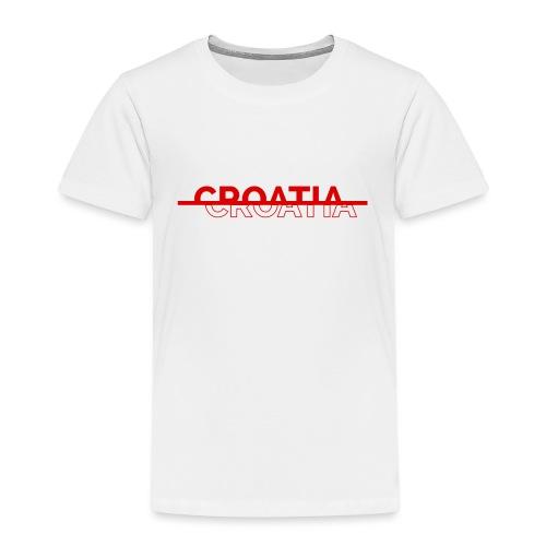 CROATIA RED DESIGN ADDED - Kids' Premium T-Shirt
