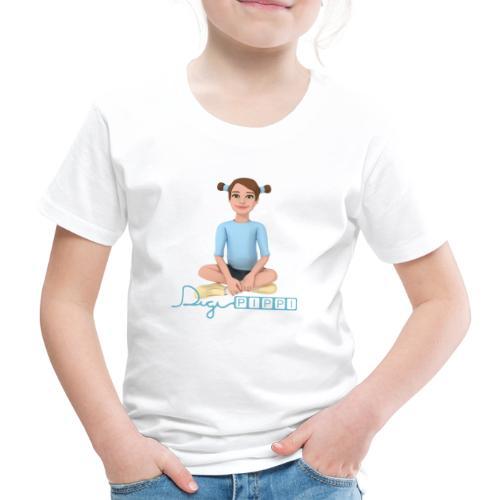 DigiPippi - maskot og logo - Børne premium T-shirt