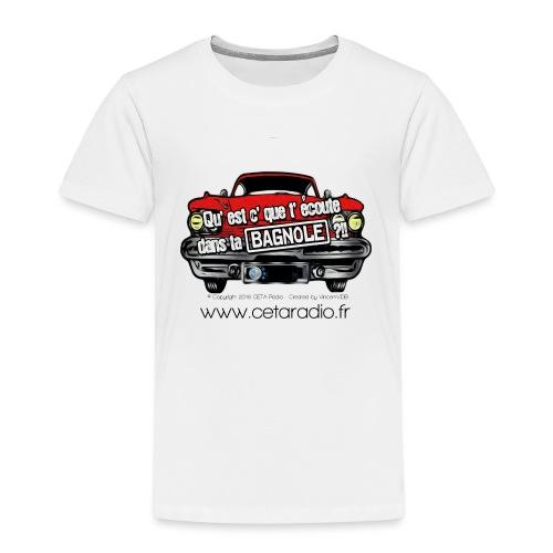 Logo QEDB CETA Radio - T-shirt Premium Enfant