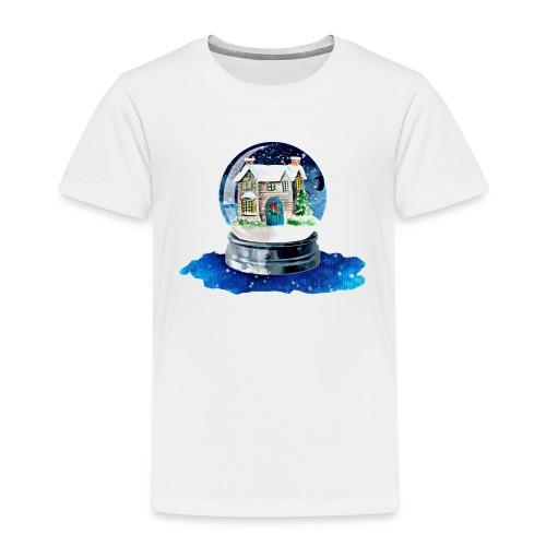Weihnachten Winterhaus - Kinder Premium T-Shirt