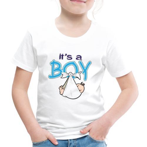 Babyshower Boy Blauw - Kinderen Premium T-shirt
