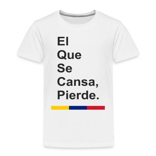 cansa pierde png - Camiseta premium niño