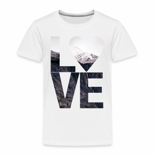 L.O.V.E - Mountains - Kinder Premium T-Shirt