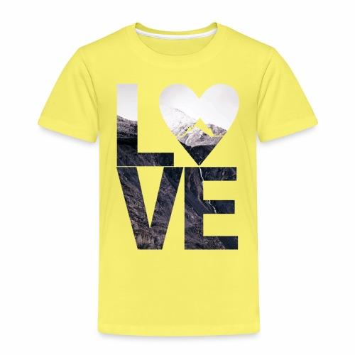 L.O.V.E - Mountains - Kinder Premium T-Shirt