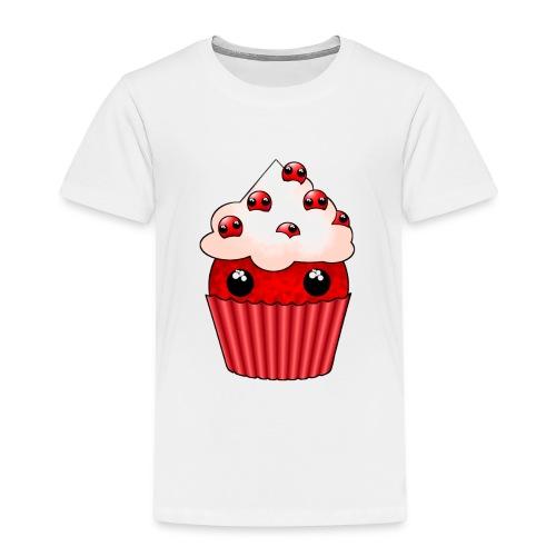 kawaii cupcake cranberry - Kids' Premium T-Shirt