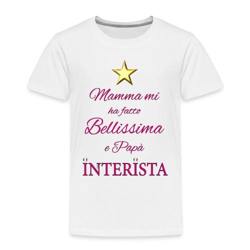 frase bimba interista - Maglietta Premium per bambini