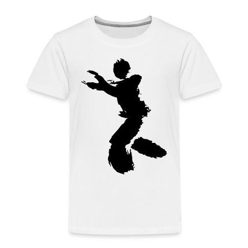 Wing Chun / Kung Fu Tusche Figur VEKTOR - Kids' Premium T-Shirt