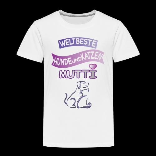 WELTBESTE HUNDE UND KATZENMUTTI - Kinder Premium T-Shirt