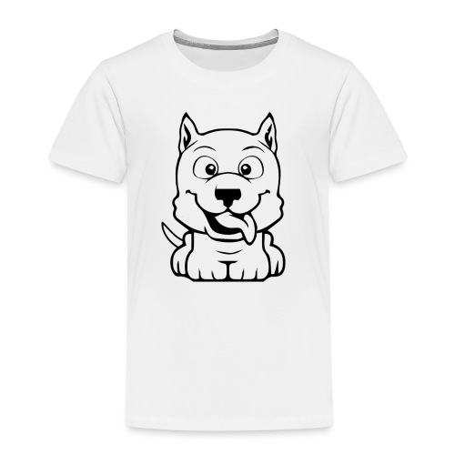 dog cartoon bully - T-shirt Premium Enfant