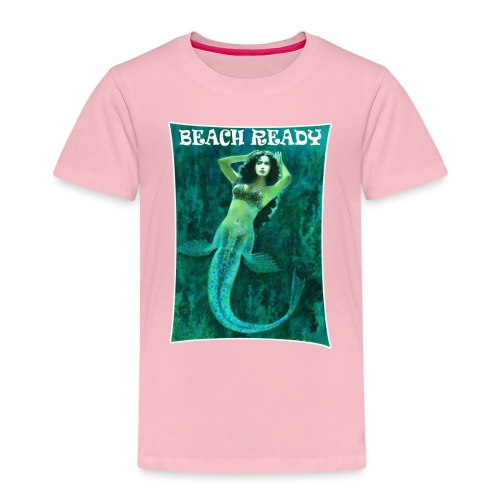 Vintage Pin-up Beach Ready Mermaid - Kids' Premium T-Shirt