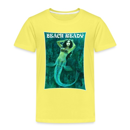 Vintage Pin-up Beach Ready Mermaid - Kids' Premium T-Shirt