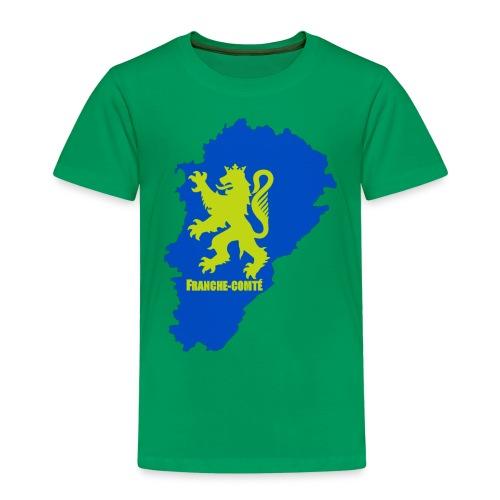Carte Franche-Comté + lion - T-shirt Premium Enfant