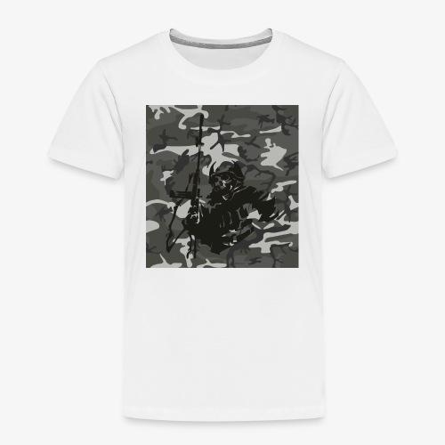 camuflaje con soldado - Camiseta premium niño