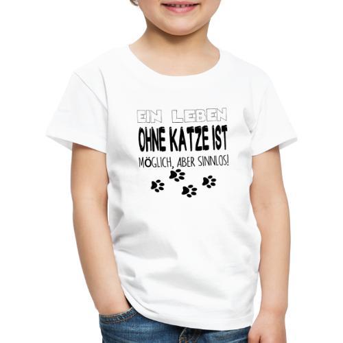 Katzen Katze Geschenk Katzenliebhaber Cat - Kinder Premium T-Shirt