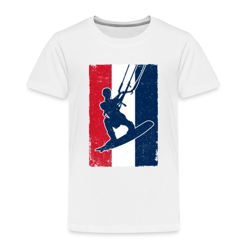 Kitesurfer France - Kinder Premium T-Shirt