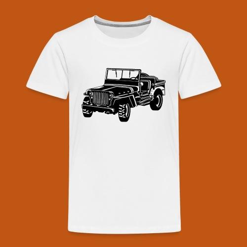Geländewagen / Jeep SUV 02_schwarz weiß - Kinder Premium T-Shirt