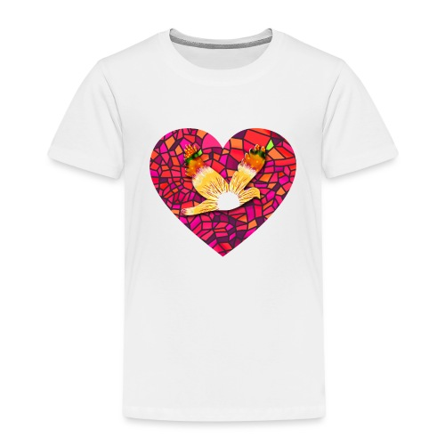 Make your heart fly with peace - Kids' Premium T-Shirt