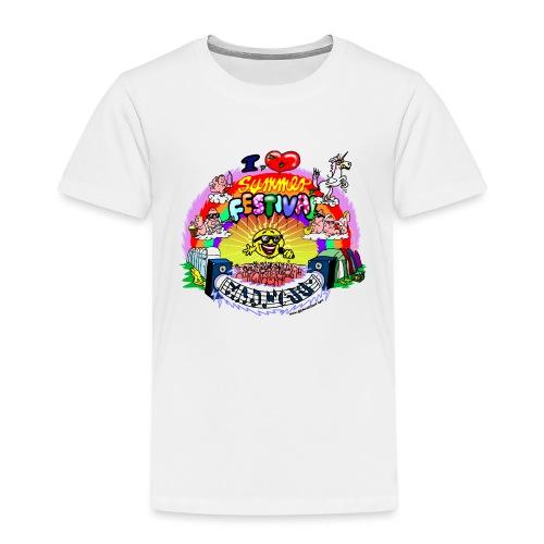 I LOVE summer festival madness - Kinder Premium T-Shirt