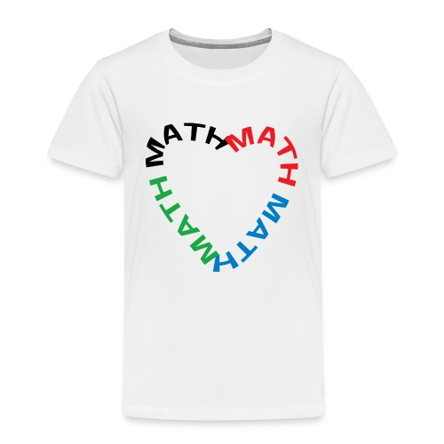 Math Text Heart - Kids' Premium T-Shirt