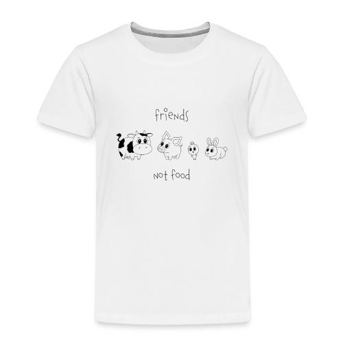 Friends, not food! (Schwarz) - Kinder Premium T-Shirt