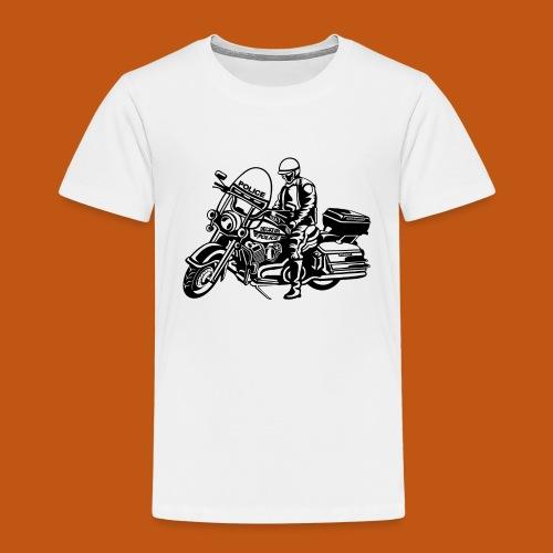 Motorradpolizei / Motorcycle Police 01_schwarz - Kinder Premium T-Shirt