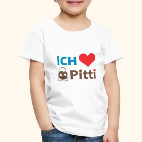 Pittiplatsch Ich liebe Pitti auf hell (blau/braun - Kinder Premium T-Shirt