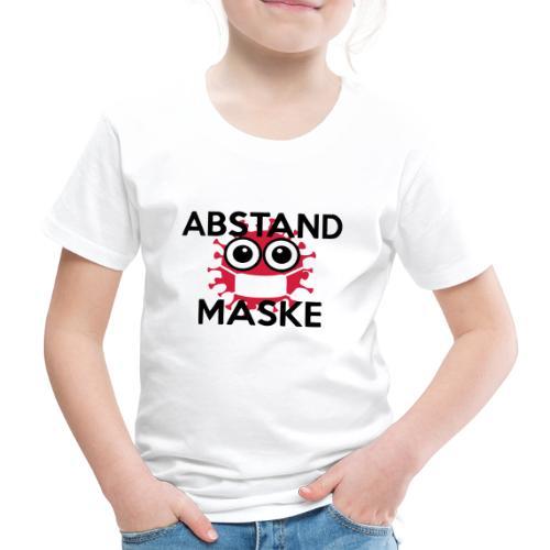 Mit Abstand und Maske gegen CORONA Virus - schwarz - Kinder Premium T-Shirt