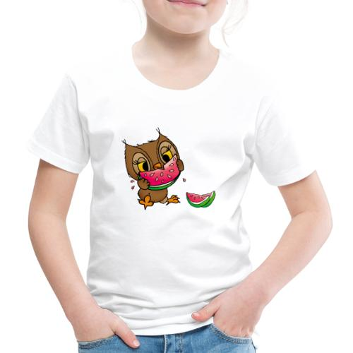 Eule Wassermelone - Kinder Premium T-Shirt