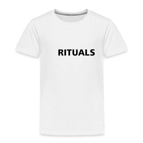 ig rituals text black and white - Kids' Premium T-Shirt