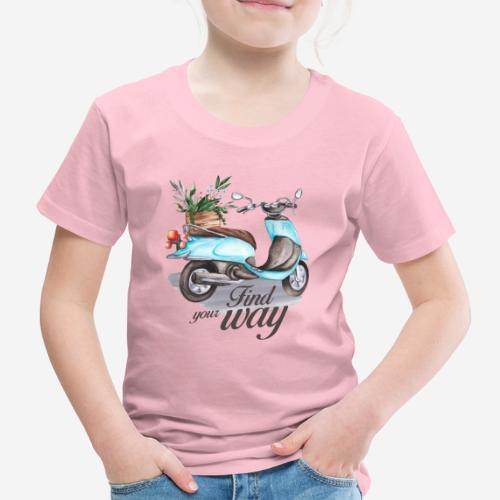 Finde deinen Weg im Leben - Kinder Premium T-Shirt