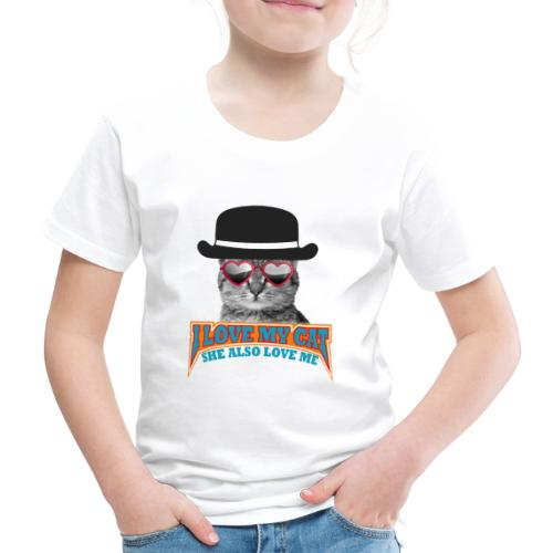 Ich liebe meine Katze und meine Katze liebt mich - Kinder Premium T-Shirt