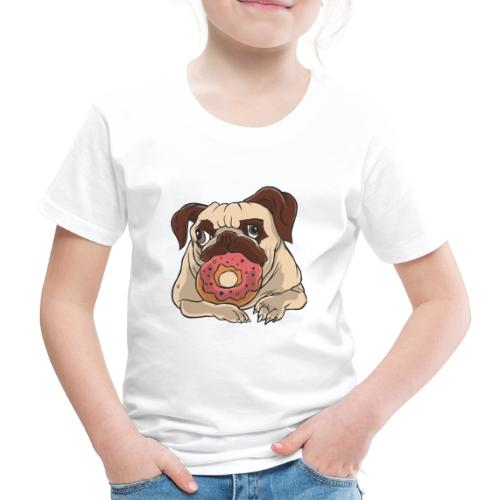 Beste Hund Hunde donut Mops - Kinder Premium T-Shirt