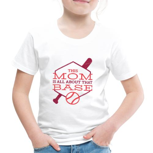 Bestes Baseball Mamma Design - Kinder Premium T-Shirt