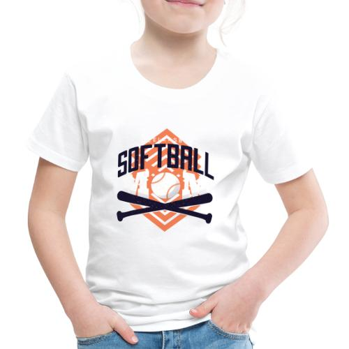 Bestes Softball Mamma Design - Kinder Premium T-Shirt