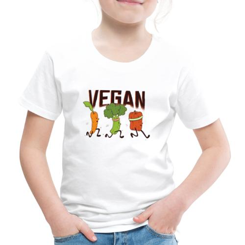 Cartoon Vegan Design - Kinder Premium T-Shirt