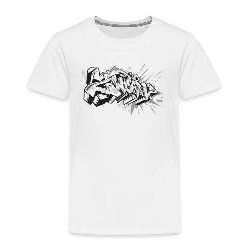 graffiti 2Wear dae120 2tone - Børne premium T-shirt