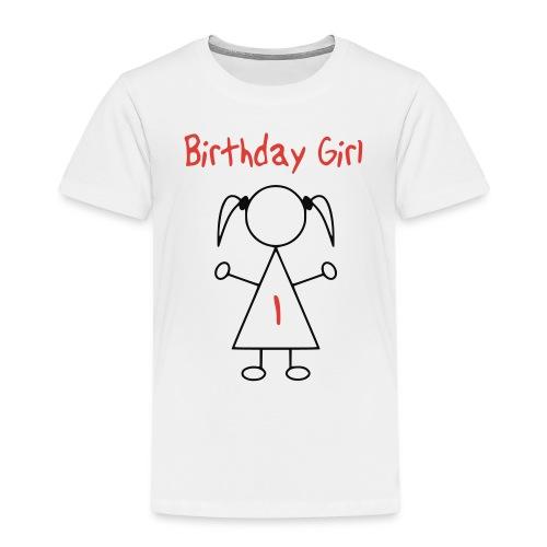 Birthday Girl 1 Jaar - Kinderen Premium T-shirt