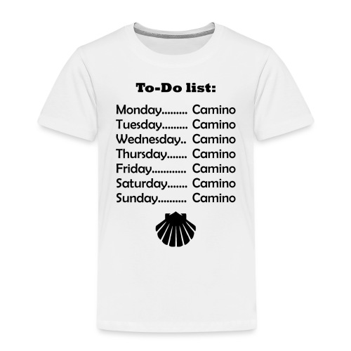 To-do list: Camino - Børne premium T-shirt